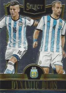 2015 Panini Select Soccer 'Dynamic Duos' - Argentina Spain Croatia Germany