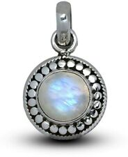 Elegant 925 Sterling Silver MOONSTONE Gemstone Necklace Pendant Gift Boxed