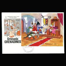 Disney Fdc Grenada Grenadines #927 S/S 1987 Hans Clodhopper, Gg216