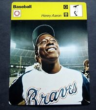 1977-1979 Sportscaster Card Baseball Henry Hank Aaron Atlanta Braves 03-16