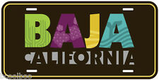 Baja California Black Mexico Aluminum Novelty Car License Plate