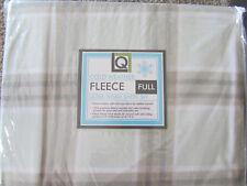 NEW FULL SIZE SHEET SET PLAID PRINT DOUBLE SIZE FLEECE LIVING QUARTERS SHEETS