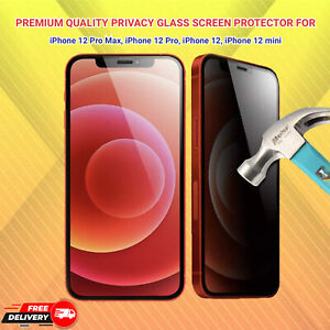 iPhone 12 Mini 12, 12 Pro,12 Max Glass Privacy Tempered Glass Screen Protector