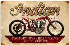 Indian 45 Hill Climber Vintage Metal Motorcycle Racing Sign Man Cave Shop FRC063