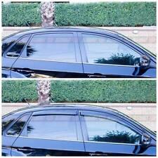 Subaru Impreza WRX 08-14 Sedan Slimline Window Visors / Weathershields Set (4PC)