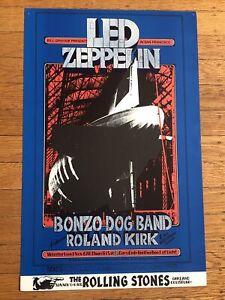 ORIGINAL1969 BILL GRAHAM BG#199 Led Zeppelin,Bonzo Dog, Winterland Poster