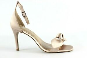 Truth & Fable Knot Damen Gold Ankle Strap Heeled Evening Bridesmaid Shoe UK 4