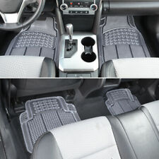 Trimmable Clear Front & Rear All-Weather Rubber Floor Mats Classic Design 4pc