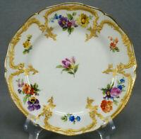KPM Berlin Neuzierat Hand Painted Dresden Floral & Raised Gold Dessert Plate B