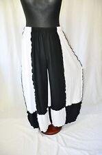 Lagenlook raffinierte Jersey-Ballonhose schwarz weiss ROLLSÄUME 2XL,3XL,4XL