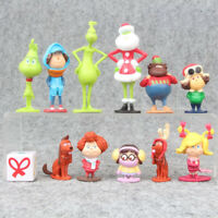 The Grinch How To Stole Christmas Xmas Gift 12 PCS Action Figure Kids Gift Toys