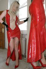 562 Latex Rubber Gummi Long evening Dress Skirts gloves customized catsuit 0.4mm