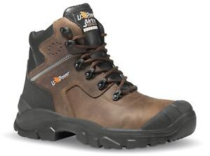 U-Power Greenland Brown Lace Up Safety Work Composite Mens Leather Toecap Boots