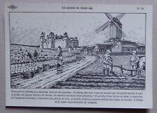 HF20) CP histoire de France Carlier : les paysans au Moyen Age