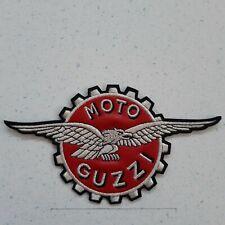 PATCH MOTO GUZZI CORONA AQUILA RICAMATA ARGENTO-TERMO- CM 17X10-REPLICA-COD 433