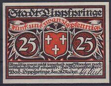 Notgeld Lippspringe 25 Pfennig 1921