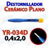 Destornillador PLANO ceramica YR-034D 0,4x2,0 ajuste pololu 3D mini ceramico