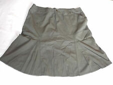 "LADIES EVIE KHAKI GREEN GODET PLEATED STYLE SKIRT UK 18 UK 48 WAIST 40"" 102cm"