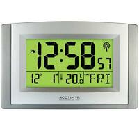Acctim Large Wall Desk MSF Signal Radio Controlled Stratus Clock Smartlite