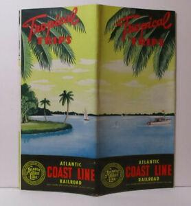 1947-1948 Brochure ATLANTIC COAST LINE RAILROAD Tropical Trips # 2801