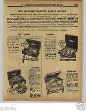 1929 PAPER AD Gillette Safety Razor Gold Bostonian New Standard Fellow Schick