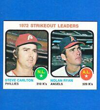 New listing 1973 Topps NOLAN RYAN S Carlton 1972 K's Leaders #67 EXMT S&H FREE Set Break