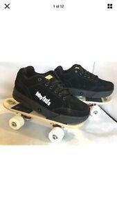 BBYHDS Rollerboard Combo Skateboard Shoes Sneakers Black Skateboards 4 NIB
