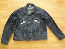 Roca Wear Rocawear Men's Dark Blue Jean Jacket Trucker Size 46 XL