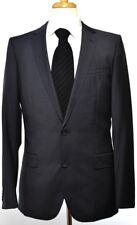 Hugo Boss Red Label Mens 2-BTN AIKO/HEISE Blue Plaid Wool Slim Suit 40 $895 NEW