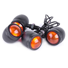 4x Bullet Turn Signal Indicator Lights Fit Motorcycle Harley Bobber Yamaha