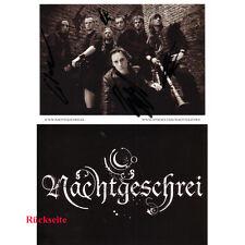 schwarz/weiß Autogrammkarte Nachtgeschrei -Nocturnal Culture Night- Deutzen 2009