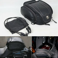 Universal BLACK Motorcycle Rear Bag Tail Helmet Pack for Harley Softail Victory