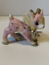 Target Wondershop Retro Pink Gold Glitter Reindeer Deer Christmas Ornaments