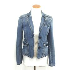 Gap Distressed Stretch Denim Jacket Size 2 Button Front Great Look Womens Sz 2