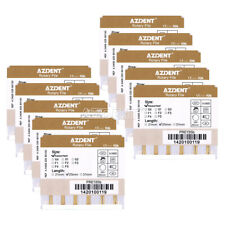 50 X AZDENT Dental Endodontic 25mm Gold Taper NITI Endo Rotary Files Engine Use