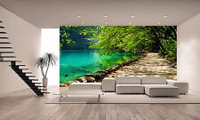 A Forest Lake Wall Mural Photo Wallpaper GIANT DECOR Paper Poster Free Paste