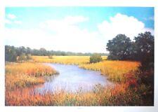 """Jack Chilton, Jr """"Solitude"""" Egret fishing alone in marsh LTD ED S/N nature print"""