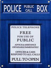 15x20cm police telephone box metal advertising tardis wall sign