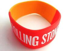 The Rolling Stones 14 On Fire Rubber Colored Bracelet USA Official Licensed 2014