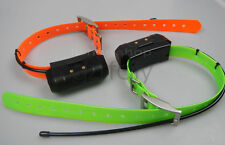 2*GARMIN DC40 GPS dog collar for ASTRO220/320 USA Version (Green & Orange strap)