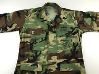 US Navy Maritime Expeditionary Security Large L Long Military Shirt Camo Ripstop