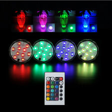 10 LED Waterproof RGB Color Changing Christmas Party Vase Lamp+Remote Control/