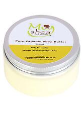 Whipped Pure Unrefined Shea Butter 100ml, Certified Organic, Fair Trade & Vegan