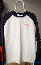 Wrangler RAGLAN SWEAT Sweatshirt OFFWHITE weiß blau Größe XXL