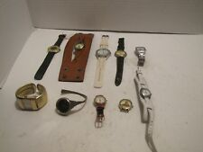 LOT OF 10 WOMEN'S WATCHES FOR PARTS OR REPAIR ROXY AMSTAR CG QUARTZ W23