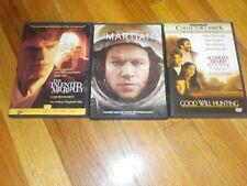 Matt Damon Dvd Lot good will hunting / the martian / the talented mr. ripley