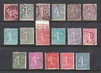 France stamps #138 - 154, used, complete set, 1903 - 1938, SCV $34. 40