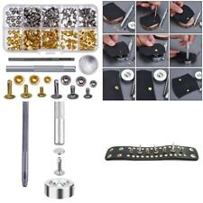 Single Cap Rivets Set 120 Tubular Studs For Leather Silver/ Gold Fixing Tool Kit
