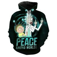 Rick and Morty Hoodies 3D Print Sweatshirts Pullover Hooded Casual Jacket Coat