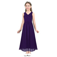 Kid Flower Girl Dress Party Wedding Bridesmaid Formal Pageant Gown Long Dresses